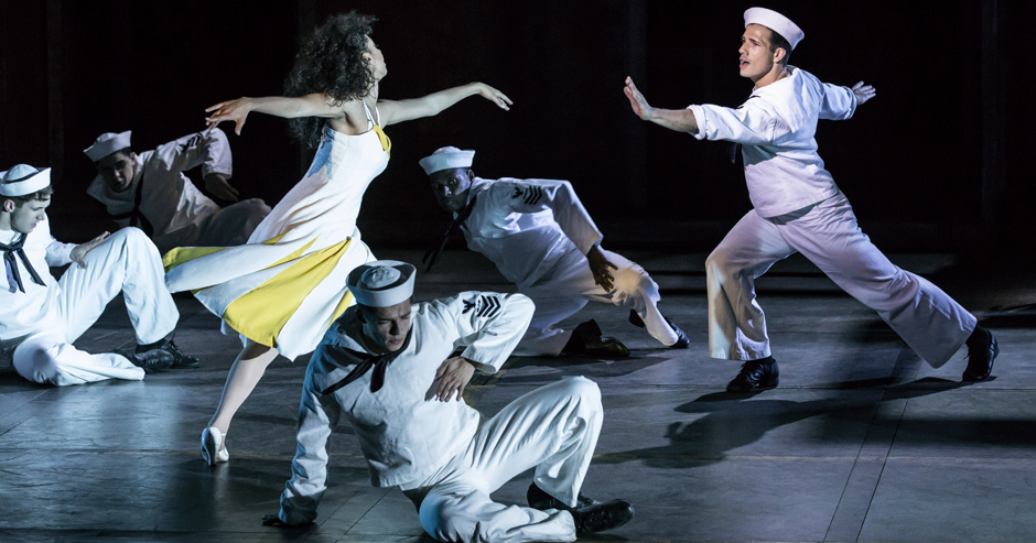Siena Kelly and Danny Mac in On the Town - Credit Johan Persson