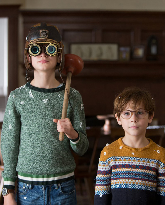 Jacob Tremblay and Jaeden Lieberher in The Book of Henry - Photo by Alison Cohen Rosa / © 2017 Focus Features LLC. All Rights Reserved - Credit IMDB