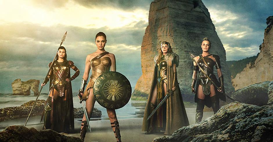 Robin Wright, Connie Nielsen, Gal Gadot and Lisa Loven Kongsli in Wonder Woman - Credit IMDB