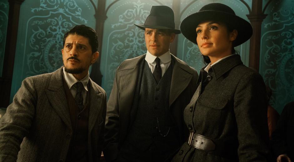 Saïd Taghmaoui, Chris Pine and Gal Gadot in Wonder Woman - Credit IMDB