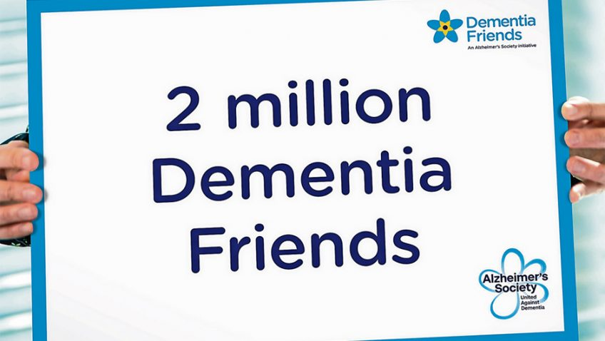 Alzheimer's Society hits staggering two million Dementia Friends milestone