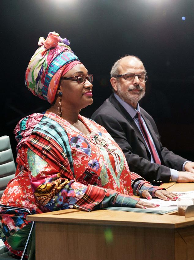 Sandra Marvin and Omar Ebrahim in Committee - Credit Manuel Harlan