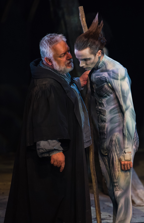 Mark Quartley and Simon Russell Beale in The Tempest - Credit Topher McGrillis