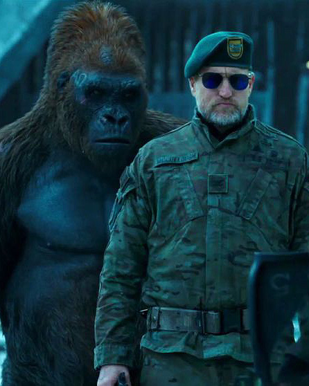 Woody Harrelson and Ty Olsson in War for the Planet of the Apes - Credit IMDB