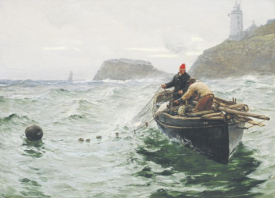 Along Shore fisherman by Charles Napier Hemy