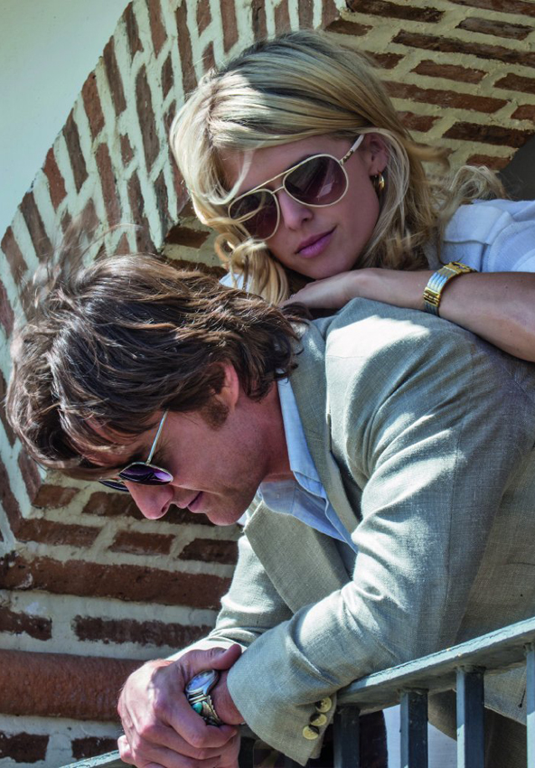 Tom Cruise and Sarah Wright in American Made - Credit IMDB