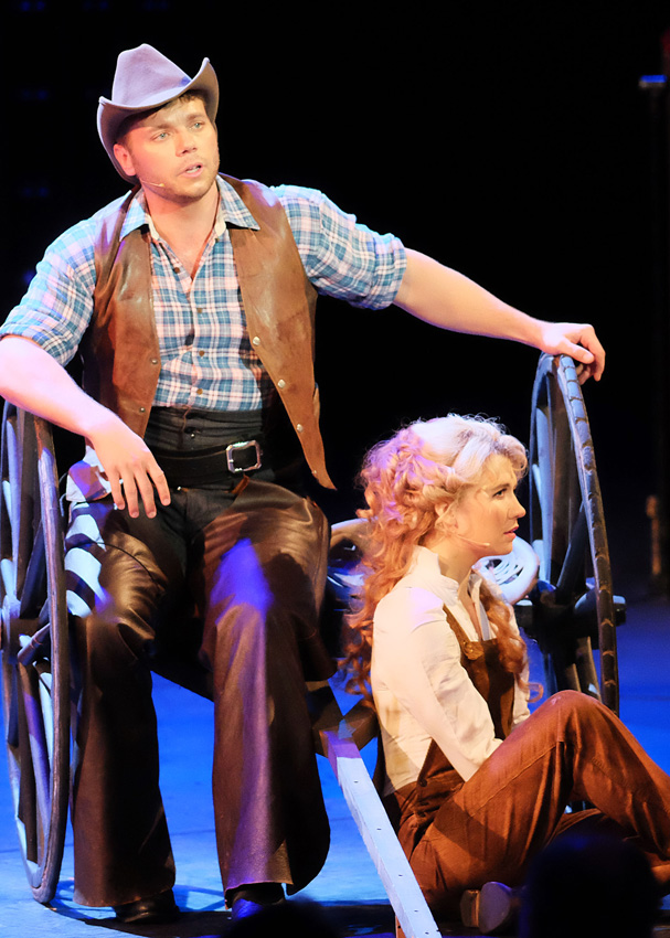 Nathaniel Hackmann and Scarlett Strallen in Oklahoma! - Credit BBC Mark Allan