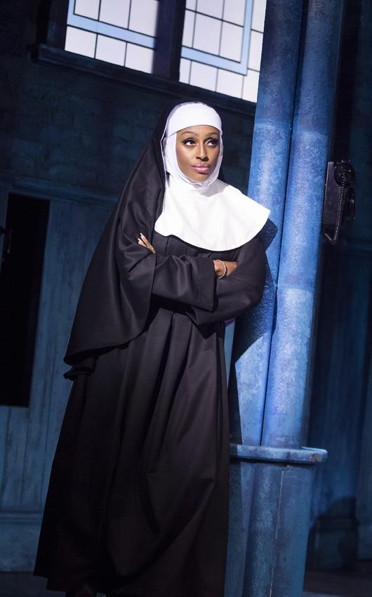 Alexandra Burke in Sister Act - Credit Tristram Kenton