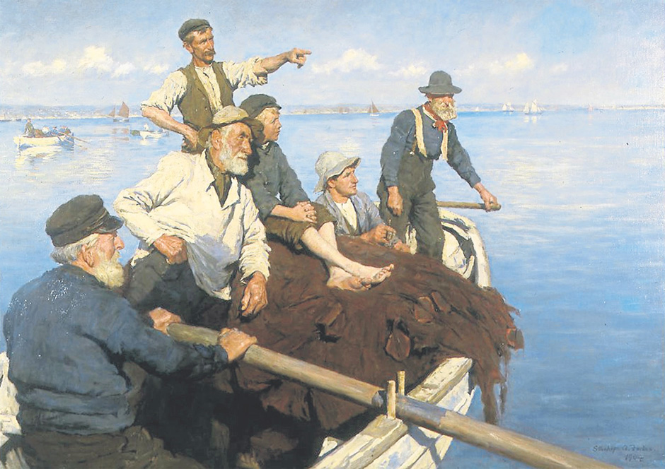 The Seine Boat by Stanhope Forbes