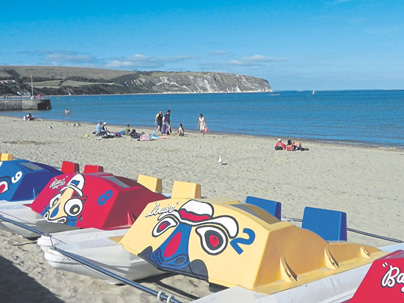 Beach in Swanage