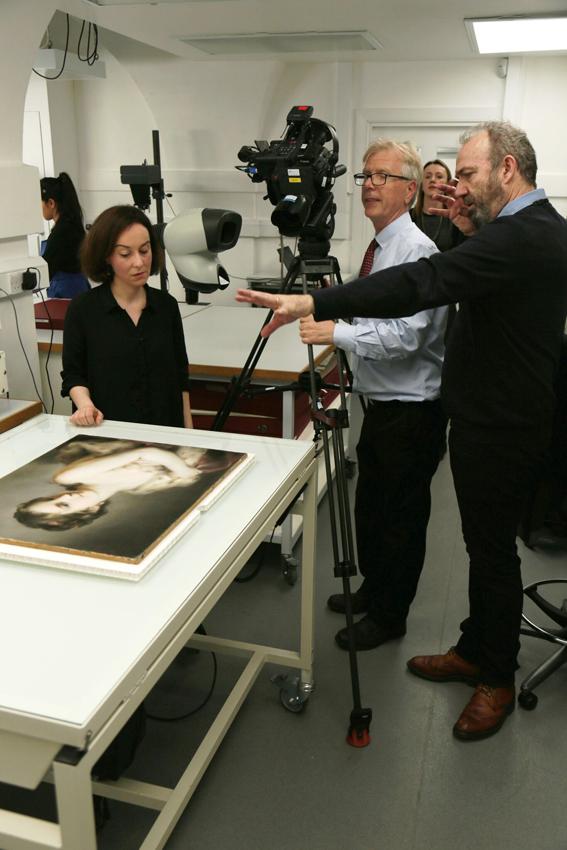 Filming Clara de la Pena McTigue at Windsor Castle - Copyright EXHIBITION ON SCREEN and David Bickerstaff