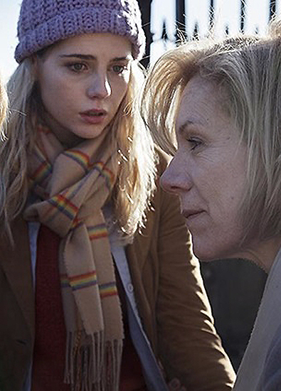 Juliet Stevenson and Lucy Boynton in Let Me Go - Credit IMDB