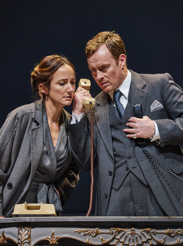 Lydia Leonard and Toby Stephens in Oslo