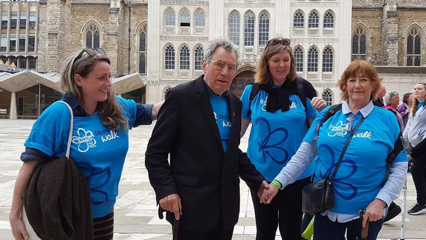 Comedy genius Terry Jones unites with 3,500 people at Memory Walk