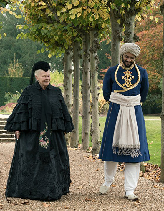 Judi Dench and Ali Fazal in Victoria and Abdul - Credit IMDB