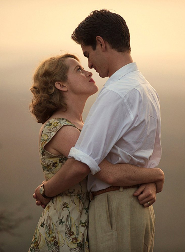 Andrew Garfield and Claire Foy in Breathe - Credit IMDB
