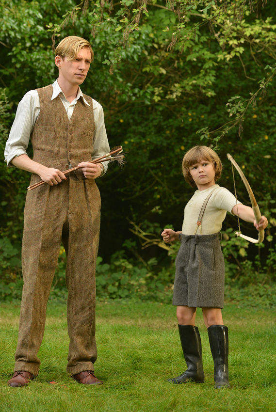 Domhnall Gleeson and Will Tilston in Goodbye Christopher Robin - Credit David Appleby