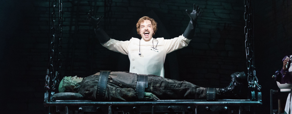 Hadley Fraser and Shuler Hensley in Young Frankenstein - Credit Manuel Harlan