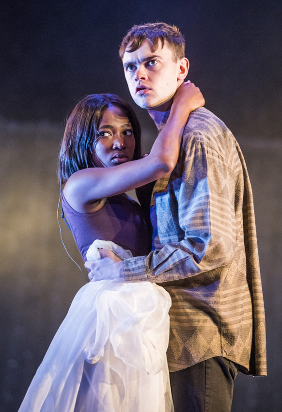Brian Vernel and Adelayo Adedayo in The Seagull - Credit Tristram Kenton