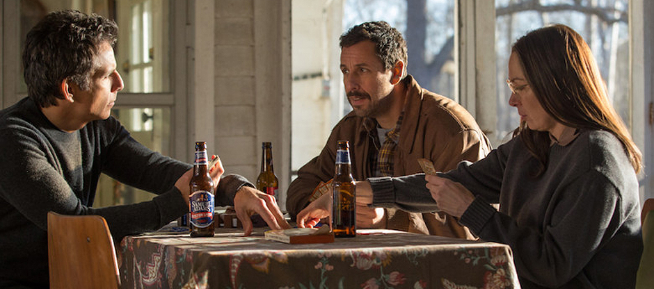 Adam Sandler, Ben Stiller and Elizabeth Marvel in The Meyerowitz Stories - Credit IMDB