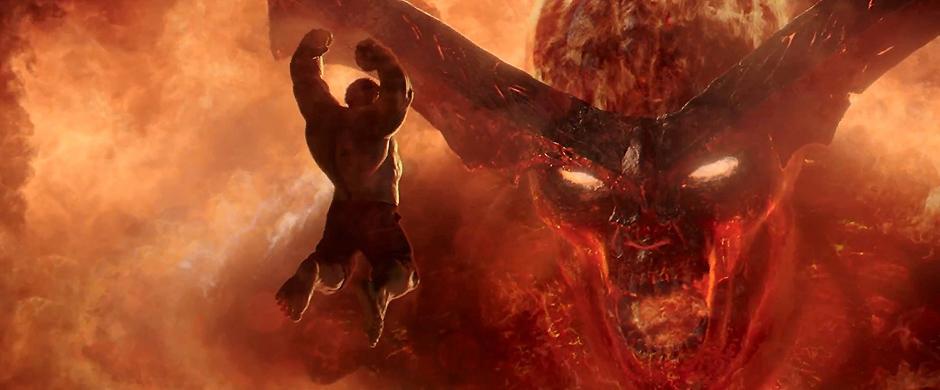 Clancy Brown and Mark Ruffalo in Thor: Ragnarok - Credit IMDB