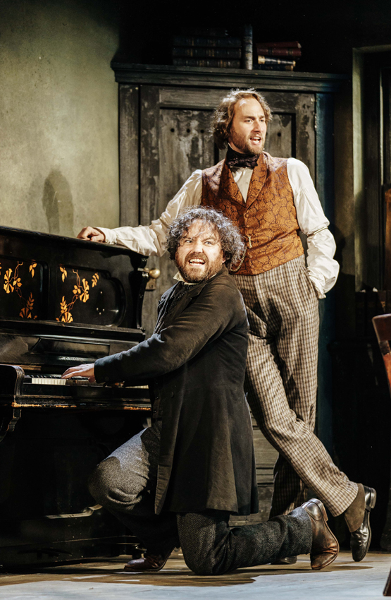 Rory Kinnear and Oliver Chris in Young Marx - Credit Manuel Harlan