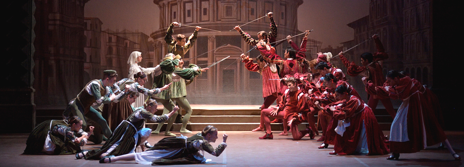 English National Ballet dancers in Romeo & Juliet - Copyright Laurent Liotardo