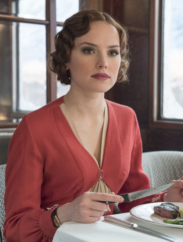 Daisy Ridley in Murder on the Orient Express - Credit IMDB