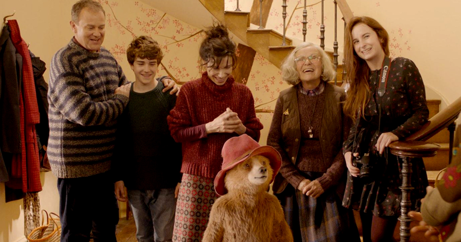 Hugh Bonneville, Julie Walters, Sally Hawkins, Madeleine Harris, and Samuel Joslin in Paddington 2 - Credit IMDB