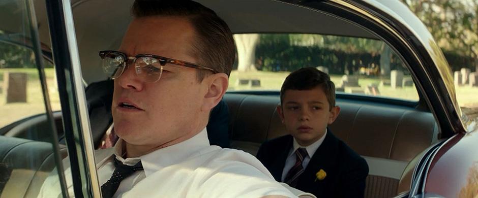 Matt Damon and Noah Jupe in Suburbicon - Credit IMDB