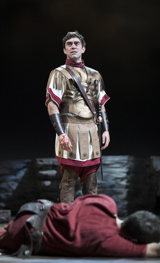 James Corrigan and Alex Waldmann in Julius Caesar - Copyright RSC - Credit Helen Maybanks