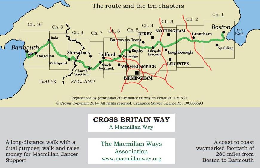 Cross Britain Way map - Macmillan Ways Association