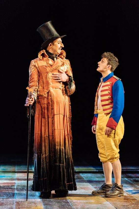 David Langham and Joe Idris-Roberts in Pinocchio - Credit Manuel Harlan