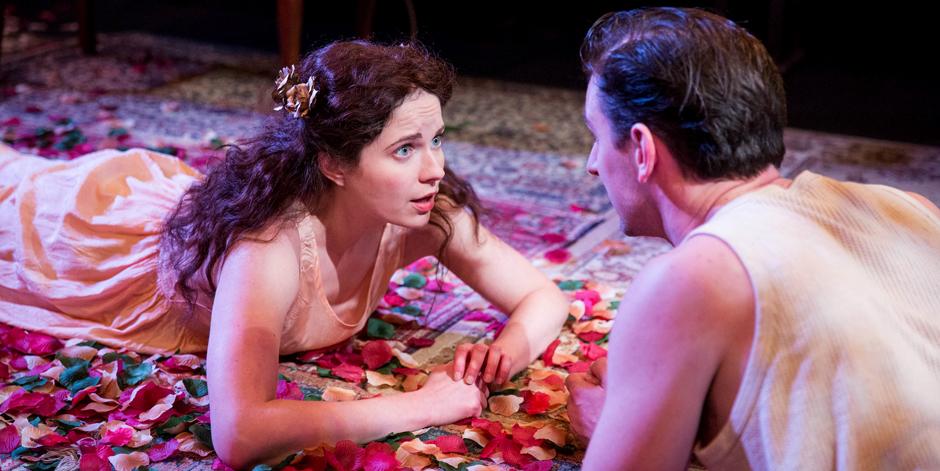 Bathsheba Piepe and Edward Sayer in Dear Brutus - Credit Mitzi de Margary