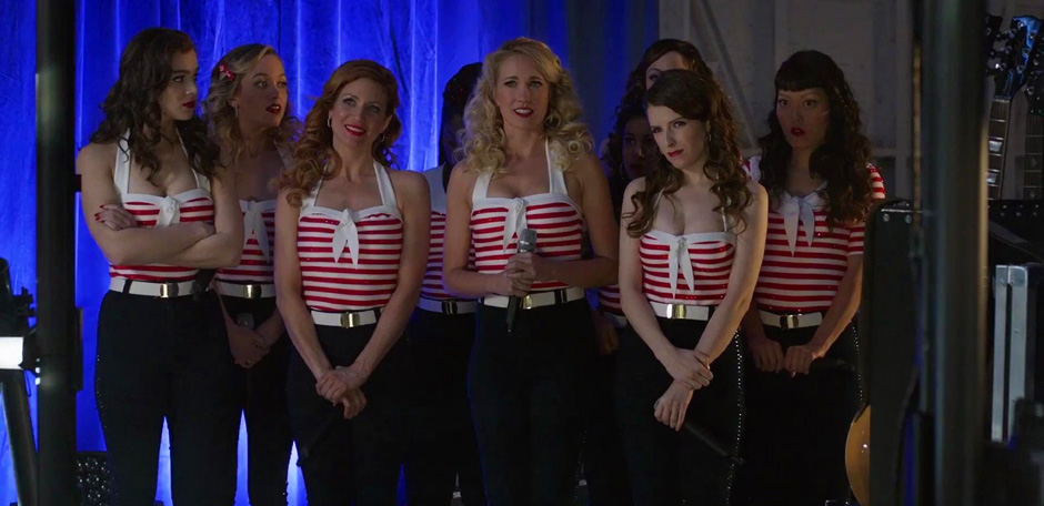 Anna Kendrick, Brittany Snow, Anna Camp, Hana Mae Lee, Hailee Steinfeld, Alexis Knapp, and Kelley Jakle in Pitch Perfect 3 - Credit IMDB