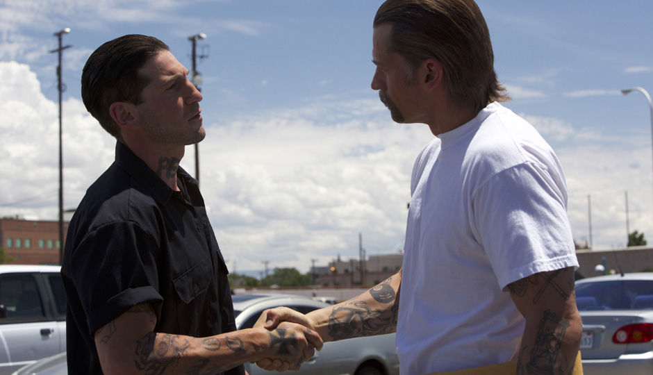 Jon Bernthal and Nikolaj Coster-Waldau in Shot Caller