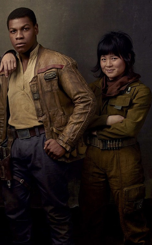 John Boyega and Kelly Marie Tran in Star Wars: Episode VIII - The Last Jedi - Credit IMDB