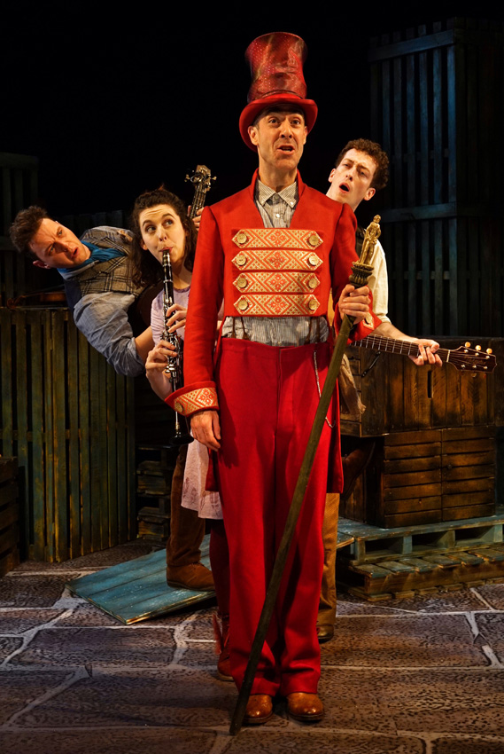 Steve McCourt, Lauren Silver, Tom Jude and Matt Jopling in Wilde Creatures - Copyright Tall Stories