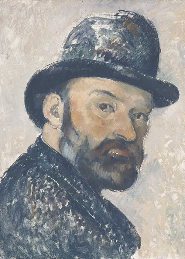 Self Portrait in a Bowler Hat, 1885-86 by Paul Cézanne. Ny Carlsberg Glyptotek, Copenhagen. Photo: Ole Haupt