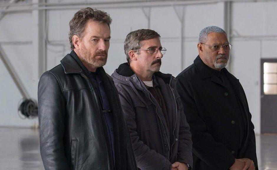 Laurence Fishburne, Steve Carell, and Bryan Cranston in Last Flag Flying - Credit IMDB