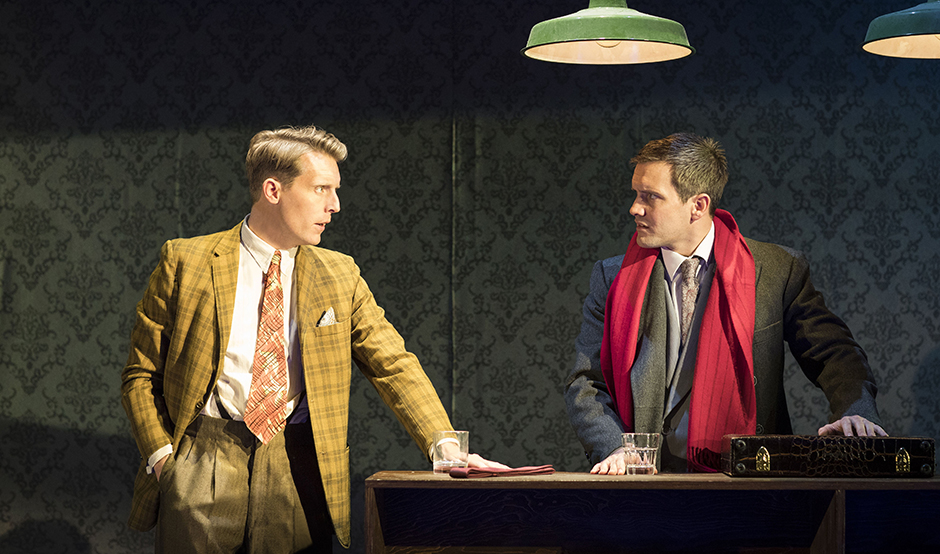 Chris Harper and Jack Ashton in Strangers on a Train - Credit Helen Maybanks