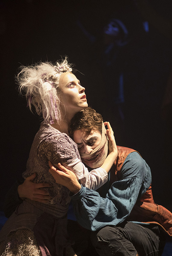 Sanne den Besten and Louis Maskell in The Grinning Man - Credit Helen Maybanks