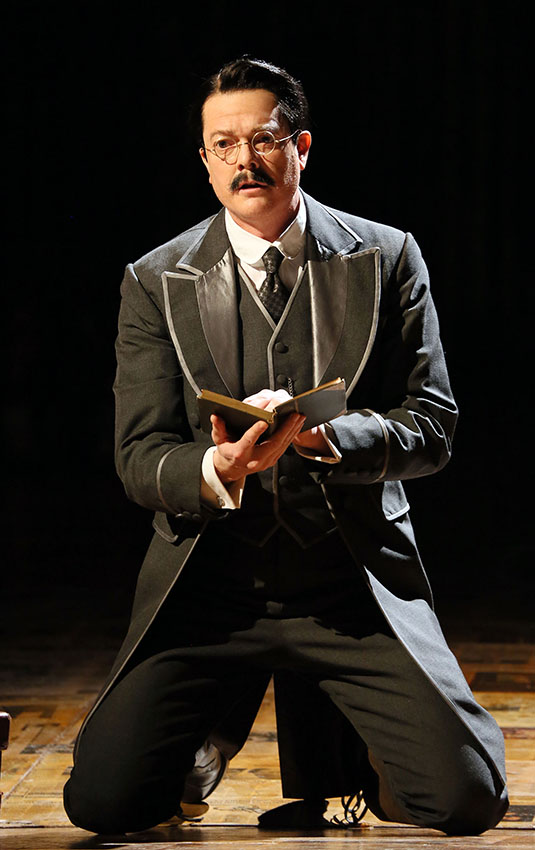 Toby Spence in ENO's Satyagraha - Credit Donald Cooper