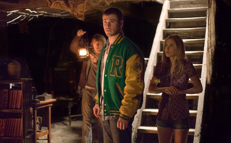 Anna Hutchison, Fran Kranz and Chris Hemsworth in The Cabin in the Woods - Credit IMDB