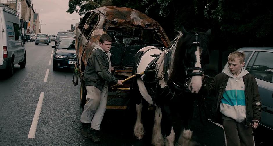 Conner Chapman and Shaun Thomas in The Selfish Giant - Credit IMDB