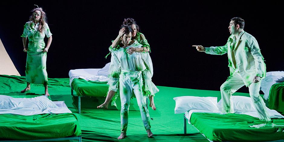 Eleanor Dennis, David Webb, Clare Presland and Matthew Durkan in A Midsummer Night's Dream - Credit Robert Workman