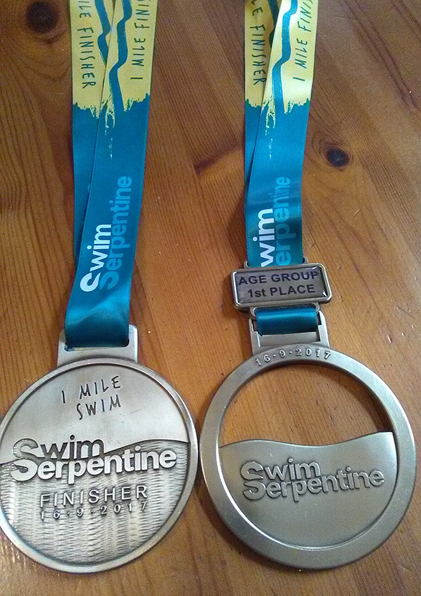 Jenny Ball - Swim Serpentine medals