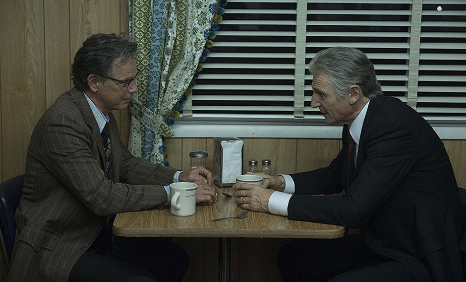Liam Neeson and Bruce Greenwood in Mark Felt: The Man Who Brought Down the White House - Credit IMDB
