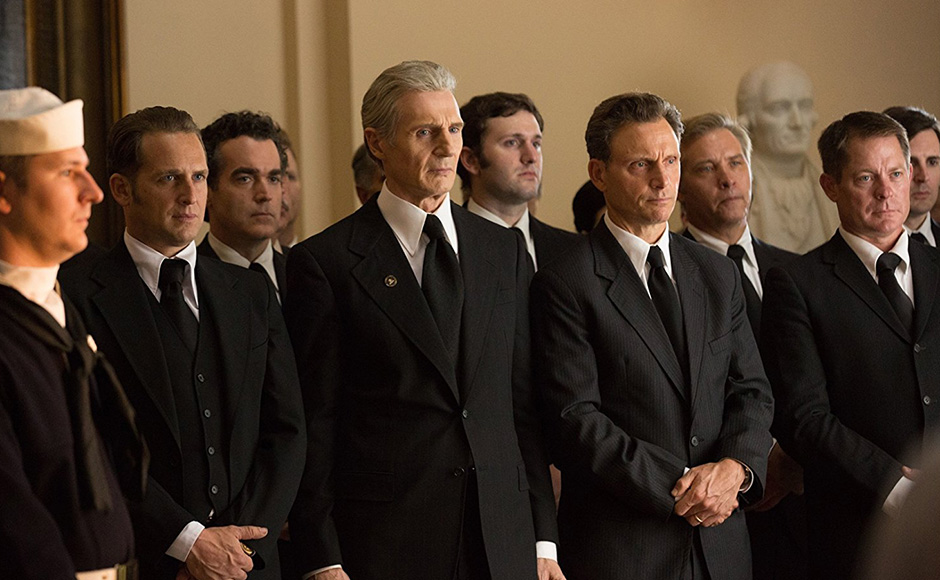 Liam Neeson, Tony Goldwyn, Brian d'Arcy James and Josh Lucas in Mark Felt: The Man Who Brought Down the White House - Credit IMDB