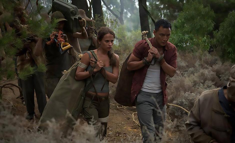 Daniel Wu and Alicia Vikander in Tomb Raider - Credit IMDB